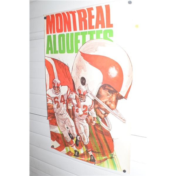 """24 X 36"""" Vintage Montreal Alouettes CFL poster"""