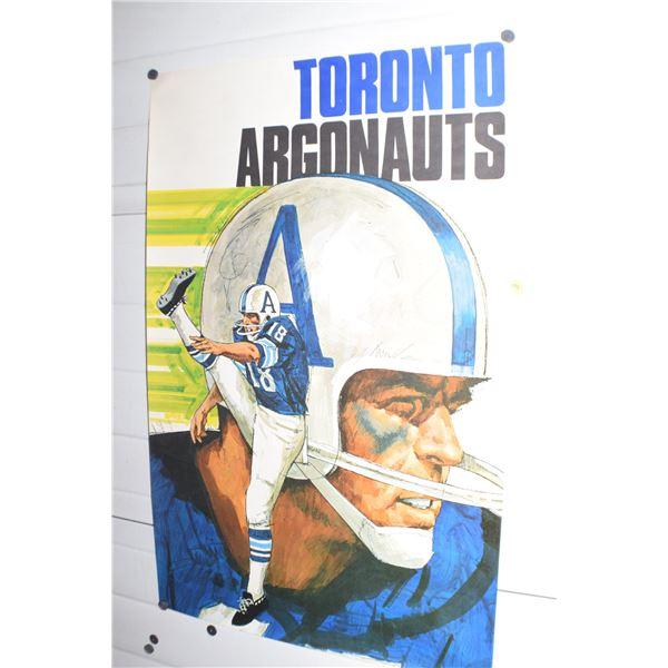 "24 X 36"" Vintage Toronto Argonauts CFL poster"