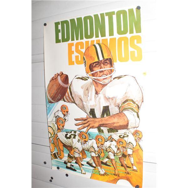 "24 X 36"" Vintage Edmonton Eskimos CFL poster"