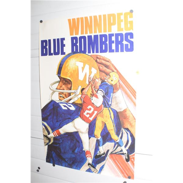 "24 X 36"" Vintage Winnipeg Blue Bombers CFL poster"