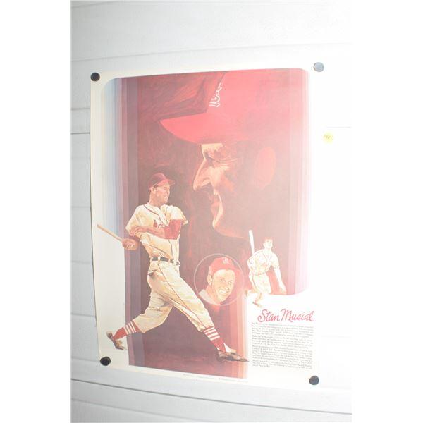 Vintage Coca Cola Stan Musial poster