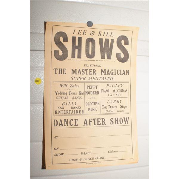 Antique Humbolt Magician poster