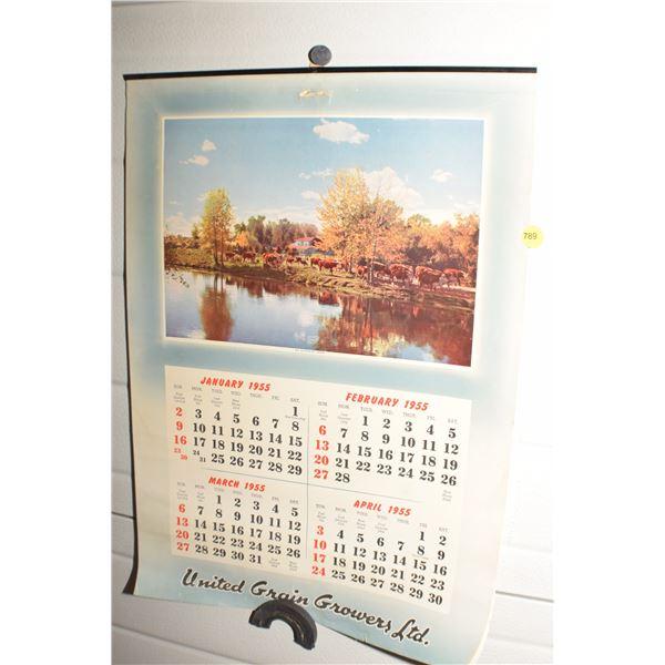 1955 U.G.G. calendar
