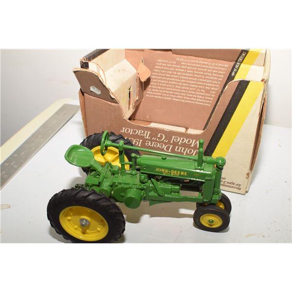 John Deere Model G tractor toy
