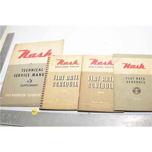 1940's Nash manuals
