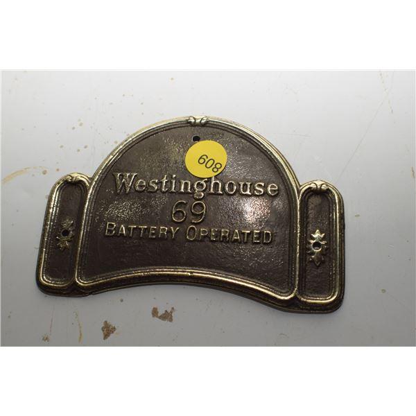 Westinghouse Brass Radio plaque