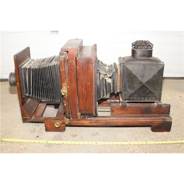 Antique Glass plate projector