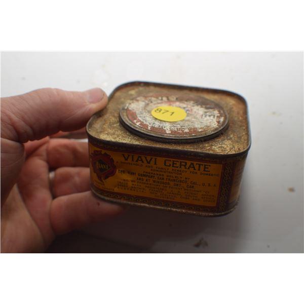 Antique Valve Cerate Tin