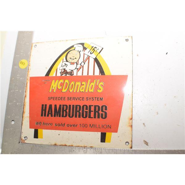 Porcelain Steel fantasy MacDonalds Sign