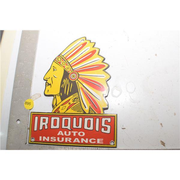Porcelain Steel fantasy Iroquois Sign