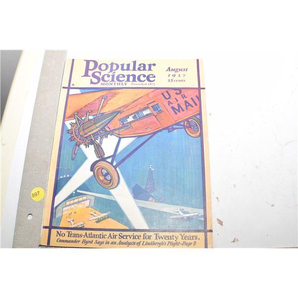 1927 Popular Science (Lindbergh)