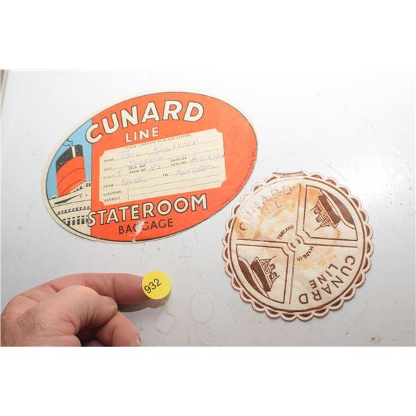 Antique Cunard Steamship collectible