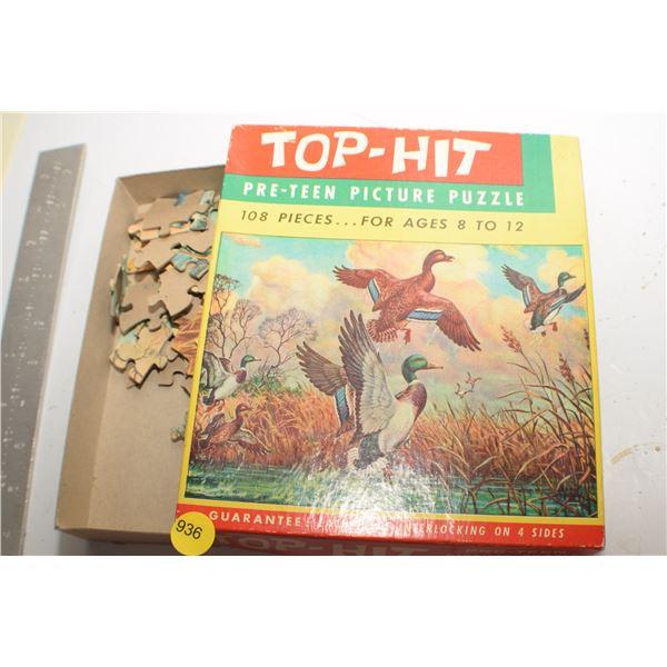 Greenhead Duck Vintage puzzle