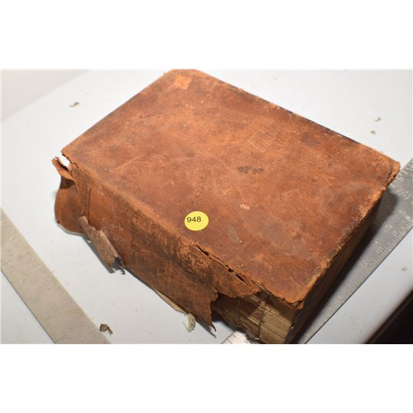 Antique 1800's Veterinary guide (poor cover) 1138 pages
