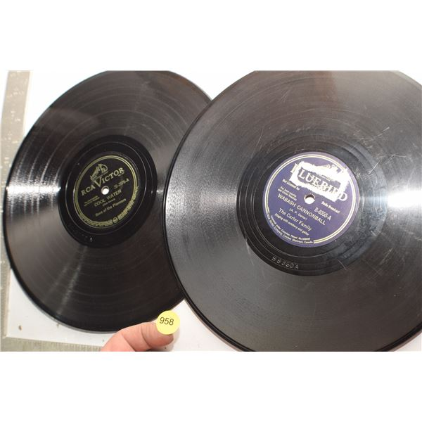 Carter family & Songs of Pioneer 78 RPM