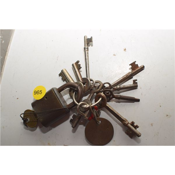 Skeleton Key's & Lock lot