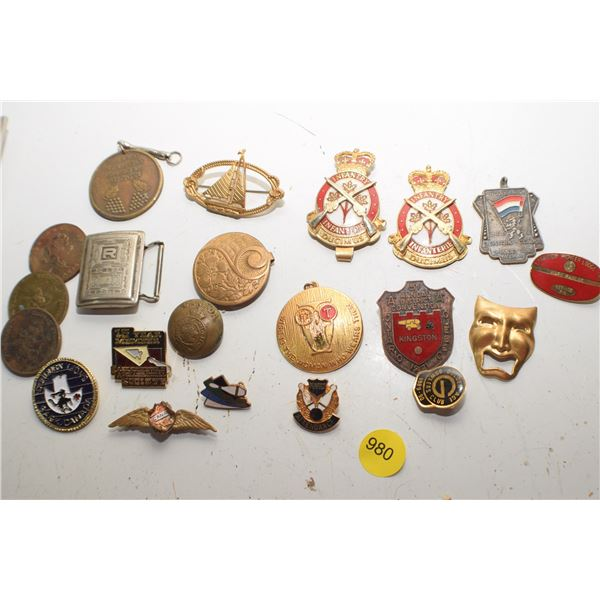 Fraternal & Military pins/badges