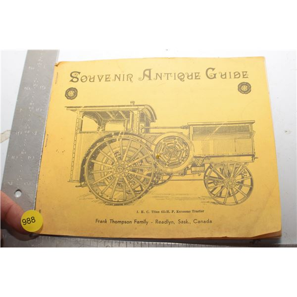 Readlyn Sask. Steam Engine book