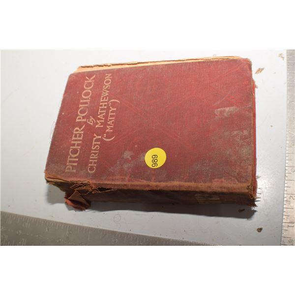 1914 Christy Mathewson baseball book - as is