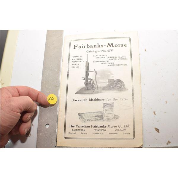 Antique Fairbanks-Morse catalog
