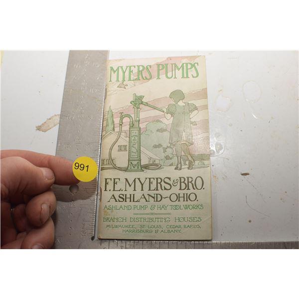 Antique Meyers pumps catalog