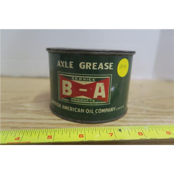 Bowtie Vintage BA Axel Grease Tin EXC. Condition