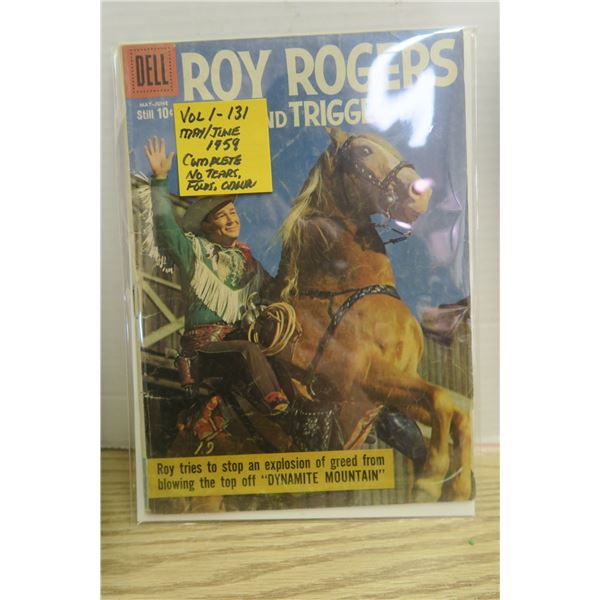 Roy Rogers Comic Vol. 1-131 May/June 1959 Baged and Boarded