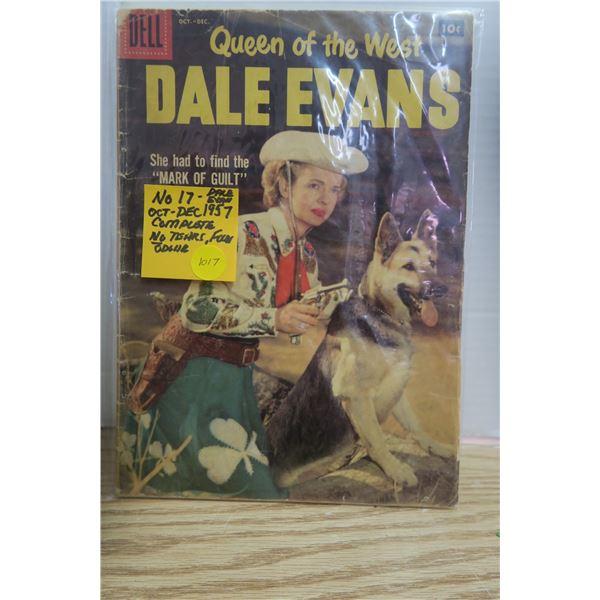 Dale Evans Comic No.17 Oct/Dec 1957
