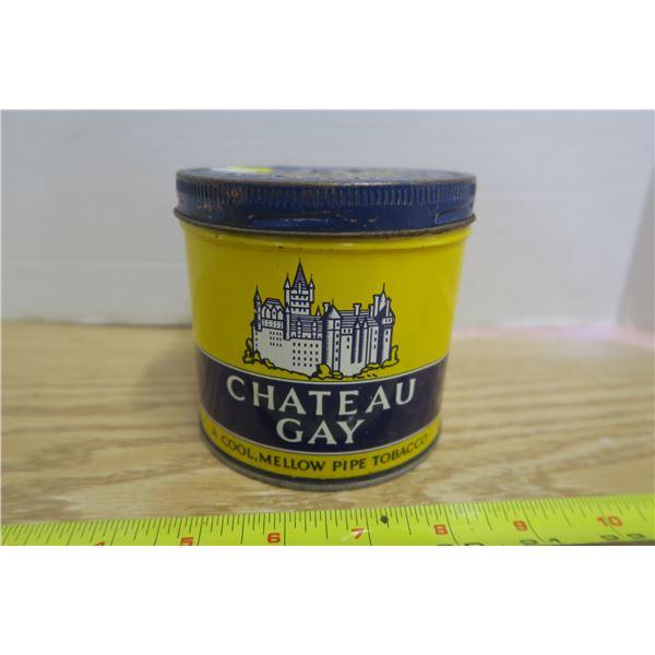 """""""Chateau Gay"""" Tobacco Tin"""