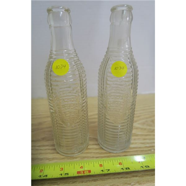 2 Clear Orange Crush Bottle Prior to 1937 *ONE HAS CHIP*