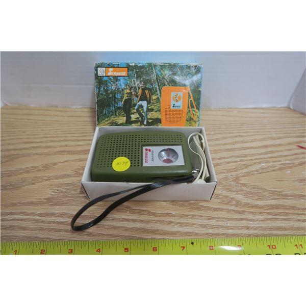 Solid State AM Pocket Radio W/ Earplugs - Hongkong