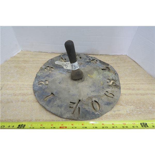 Antique Sundial / Clockface