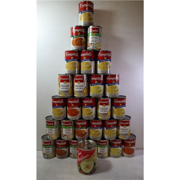 FLAT OF CAMPBELLS CANNED SOUP