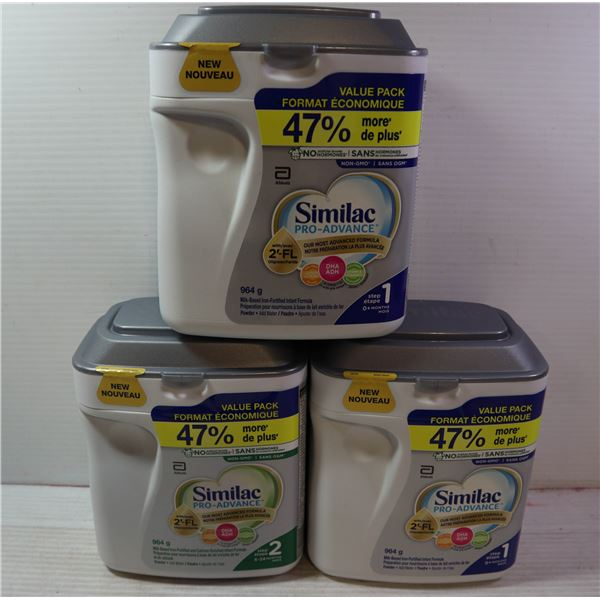 3 CONTAINERS OF SIMILACK PRO-ADVANCE STEP 1 (0M+)
