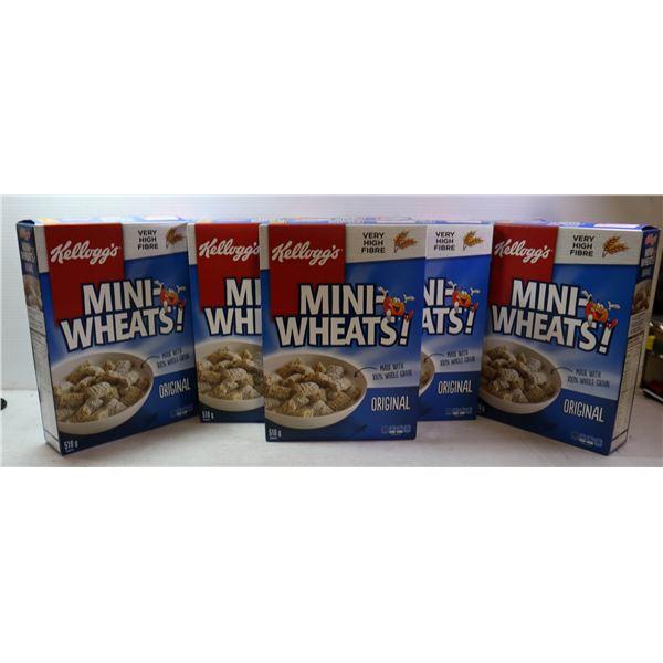 BOX LOT OF MINI WHEAT CEREAL