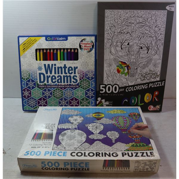 NEW ADULT COLORING ITEMS
