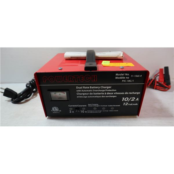 POWERTECH DUAL RATE 12V BATTERY CHARGER