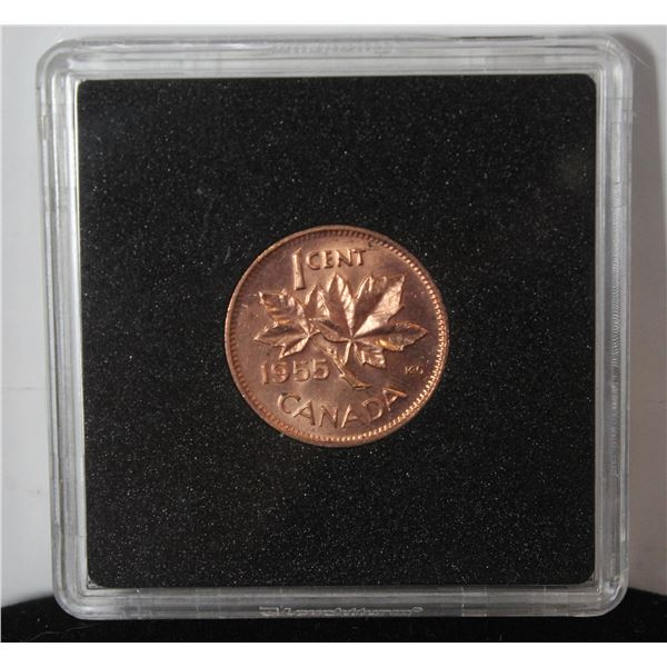 1955 CHOICE UNCIRCULATED CANADA 1 CENT