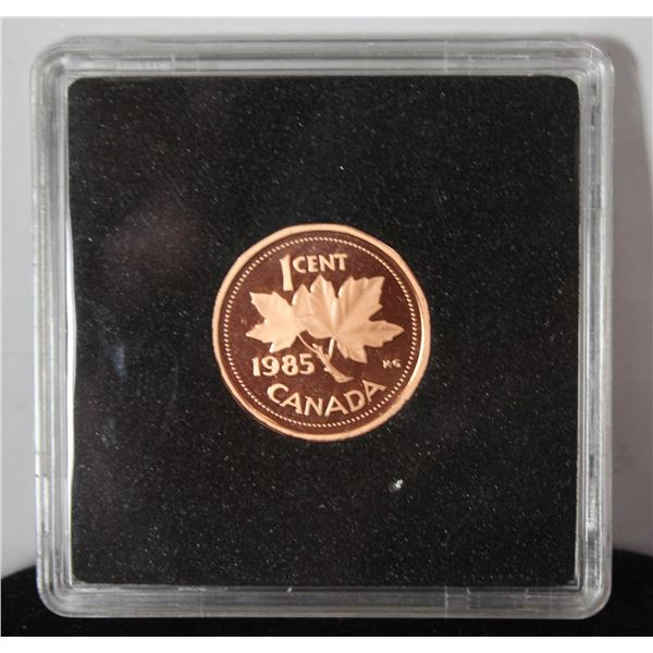1985 PROOF FINISH CANADA 1 CENT COIN