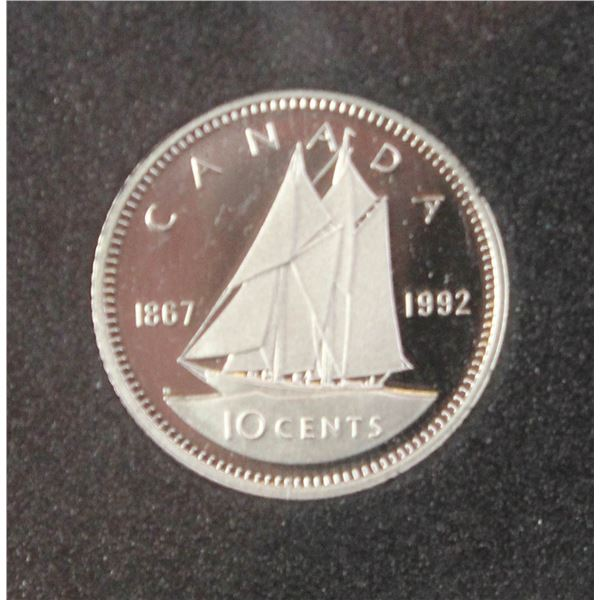 1992 PROOF FINISH CANADA 10 CENT COIN