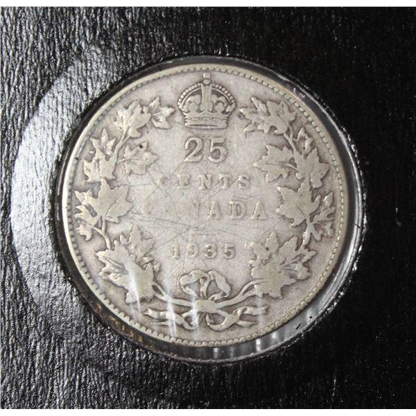 1987 PROOF FINISH CANADA 25 CENT