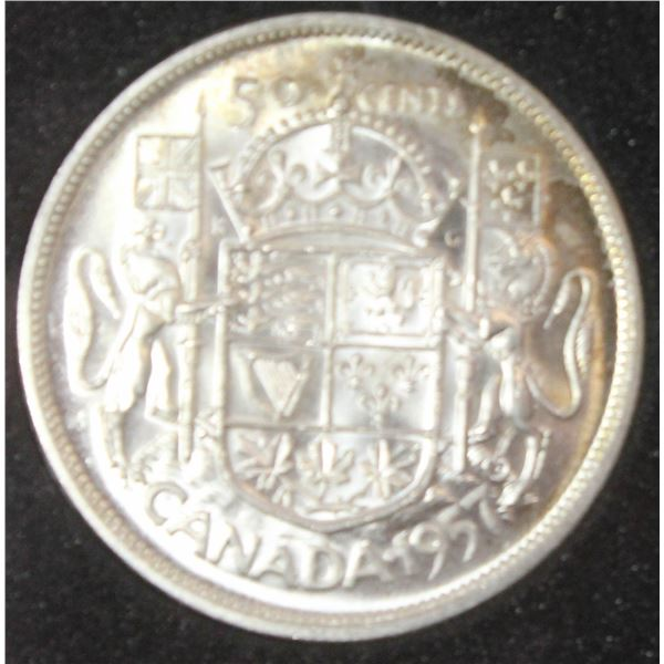 CHOICE UNCIRCULATED 1957 CANADA SILVER 50 CENT