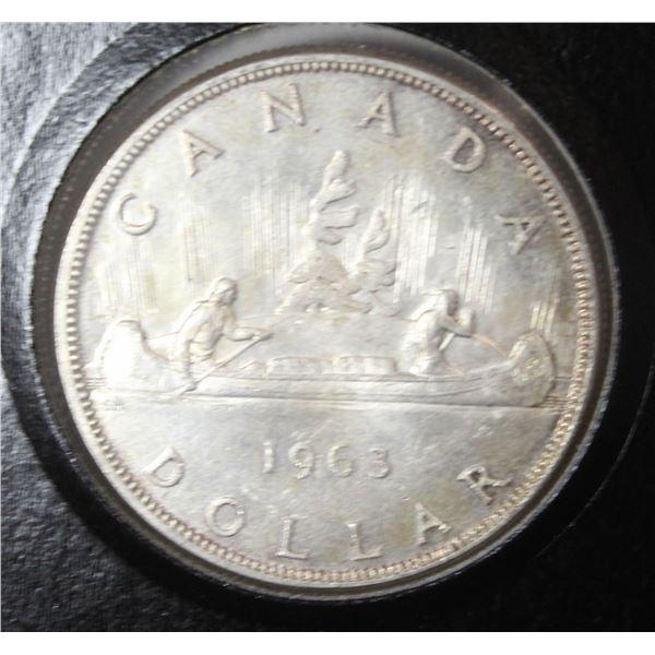 1963 VOYAGEUR CANADA SILVER DOLLAR