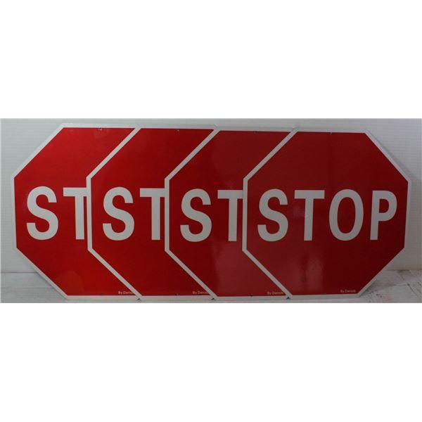 4 NEW 12X12 ALUMINIUM STOP SIGNS