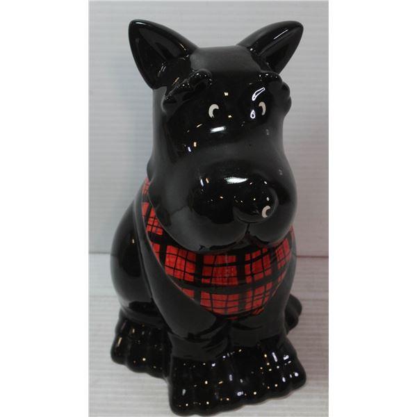 VINTAGE SCOTTY DOG COOKIE JAR.