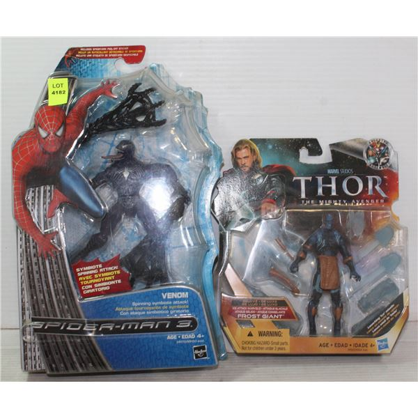 LOT OF 2 CARDED ACTION FIGURES: SPIDERMAN 3 VENOM