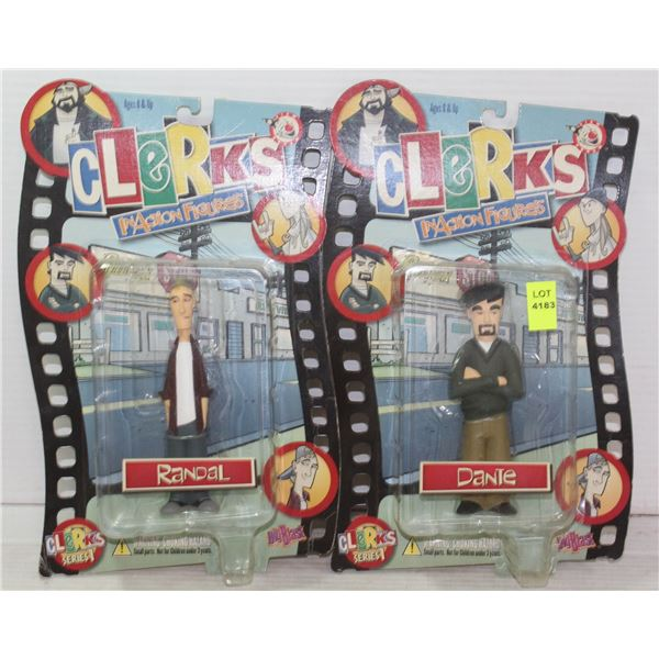 """LOT OF 2 MOC ACTION FIGURES CLERKS """"INACTION"""
