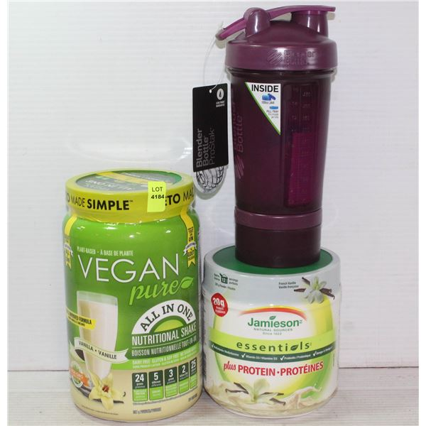 PROTEIN LOT INCLUDES NEW VEGAN PURE ALL IN ONE