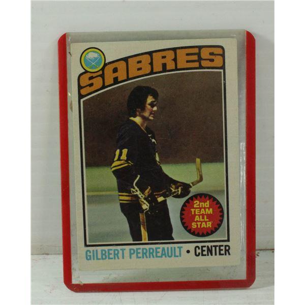 GILBERT PERREAULT SABRES HOCKEY CARD