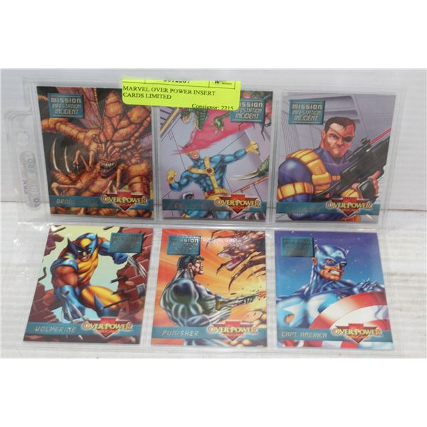 MARVEL OVER POWER INSERT CARDS LIMITED